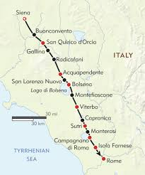 Map Of Tuscany Italy Italy U0027s Pilgrim Trail Itinerary U0026 Map Wilderness Travel