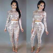 sleeve sequin jumpsuit evening two bodycon jumpsuit 2016 white black sequin