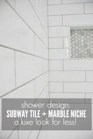 Marble Tile Bathroom Floor Master Bathroom Reveal Dual Shower Cubbies U2026 Pinteres U2026