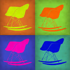 eames rocking chair pop art 1 painting by naxart studio