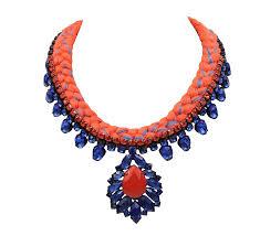 orange statement necklace images New braided statement necklace jolita jewellery jpg