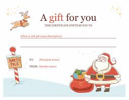 gift certificate template powerpoint christmas gift certificate