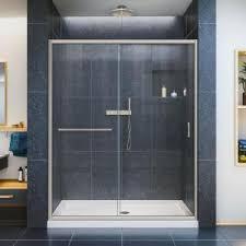 kohler levity 59 in x 74 in semi frameless sliding shower door
