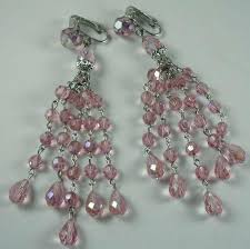 Earrings Banana Republic Pink Chandelier Earrings Chandelier Drops Glass Crystal Earrings