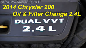 jeep compass change diy 2011 2014 chrysler dodge jeep 200 2 4 liter and filter