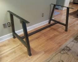 Wood Table With Metal Legs Metal Table Legs Etsy