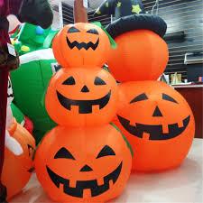 aliexpress com buy inflatable pumpkin hat shape halloween light