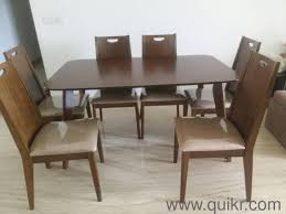 six seater dining table excellent condition six seater dining table rarely used plastic