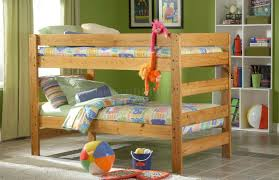 Pine Bunk Bed Honey Pine Finish Casual Country Bunk Bed