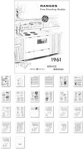 kitchen range library 1961 general electric range oven service manual
