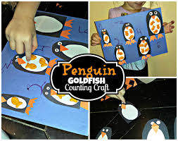 penguin goldfish cracker counting to 5 activity u0026 craft for kids