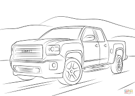 gmc sierra coloring page free printable coloring pages