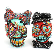 day of the dead wedding cake topper buy funky and blue turquoise skull wedding day of the dead