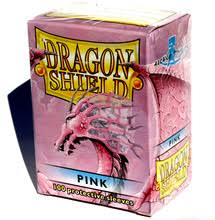pink dragon shield sleeves magic gathering cards 100ct