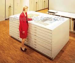 Wood Flat File Cabinet Flat File Drawer Cabinets Map Cabinets Plan Drawing Storage