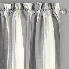 Curtains Set Willow Branch Farmhouse Country Stripe Window Curtains Set Of 2