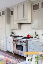 Grey Shaker Kitchen Cabinets Gray Shaker Kitchen Cabinets With Satin Nickel Cup Pulls