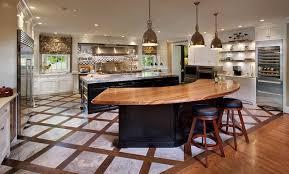 awesome kitchen island i really like the half moon shape that