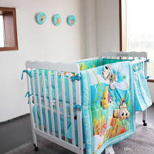 Nursery Bed Sets Light Blue Fish Baby Bedding Sets Baby Crib Set Ropa De Cuna
