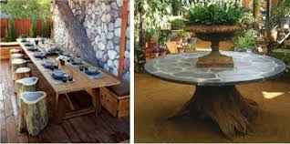 Furniture Recycling Ideas To Recycle Tree Stumps For Original Log Furniture And