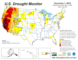 Why Do Western Maps Shrink by November 2015 Drought And Impact Summary