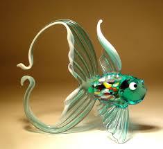 22 stunning handmade blown glass fish figurine by bill radovich