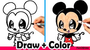 draw mickey mouse cute easy color crayola