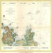 Map Of Boston Harbor by File 1853 U S C S Map Of Minots Ledge Near Boston Harbor