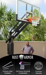 Backyard Basketball Hoops by Amazon Com Pro Dunk Diamond With Rust Armor Package Ultimate