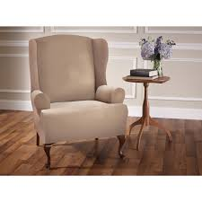 Slipcover Wing Chair Bedroom Pretty White Flower Pattern Of Cute Wing Chair Recliner