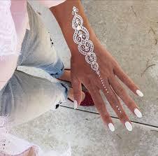20 jaw dropping white henna tattoos u2013 style info