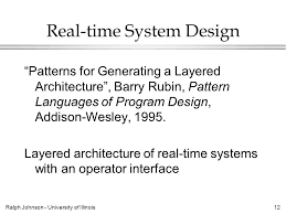 pattern language of program design ralph johnson university of illinois1 patterns what they are and