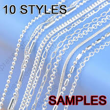 silver necklace types images Wholesale sample mix 10 styles 18 real 925 sterling silver jewelry jpg