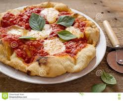 rustic italian pizza margherita stock photo image 71098568