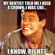 Jim Carey Meme - jim carrey meme dentist crown funny hee hee pinterest