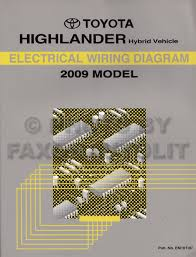 2009 toyota highlander hybrid wiring diagram manual original hybrid