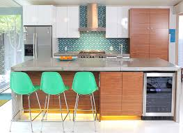 modern backsplash for kitchen eichler kitchen remodel fireclay tiled backsplash mid century