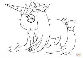 chibi unicorn coloring free printable coloring pages