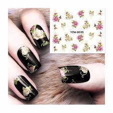 visit to buy zko 1 sheet nail art water decals transfer sticker
