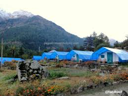 swiss cottage tent houses by kinner camps at sangla pages from