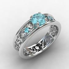 aquamarine wedding rings best unique aquamarine rings products on wanelo