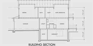 Narrow Lot House Plans With Rear Garage Narrow Lot House Plans With Basement 10176
