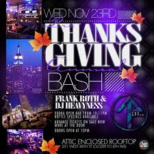 ra thanksgiving open bar for 5 at attic rooftop nyc at the