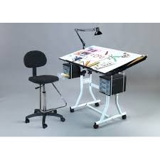Creation Station Studio Desk Weber Creation Station Melamine Drafting Table Studio Rta