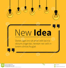 new idea phrase new idea in isolation quotes stock vector image 60448647