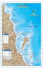 Baja Mexico Map by Sportfishing Atlas Baja California Edition Baja Directions