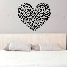 Heart Wall Stickers For Bedrooms Shop Cheetah Print Walls On Wanelo