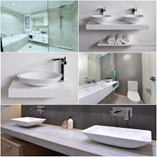 Acrylic Sinks Kkr Acrylic Solid Surface Bathroom Sinks With Two Faucets Buy