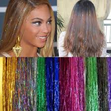 sparkly hair 40 hair tinsel silk bling extensions glitter sparkly highlights