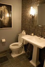 theme mirror shape white sink powder room design modern wood accent wall